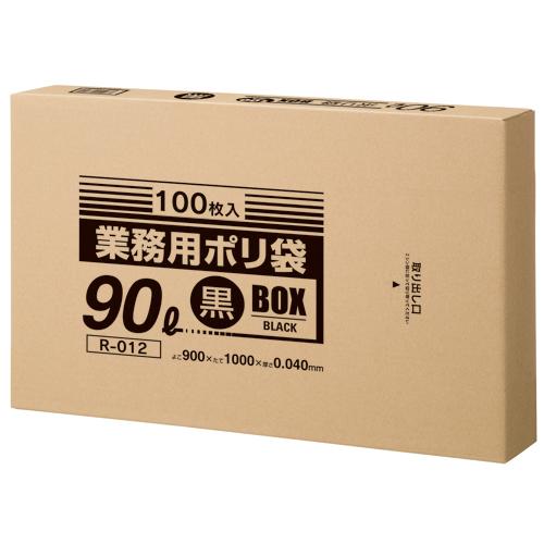 クラフトマン 業務用ポリ袋 黒 90L BOXタイプ 1箱(100枚)