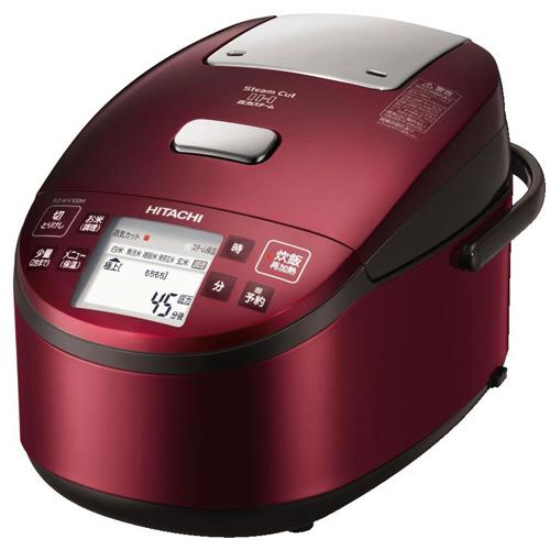日立 圧力スチームIHタイプ ジャー炊飯器 打込鉄釜 5.5合炊き レッド RZ-WV100M-R 1台