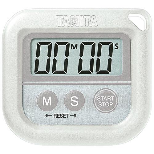 タニタ 丸洗いタイマー ホワイト TD-376WH 1個