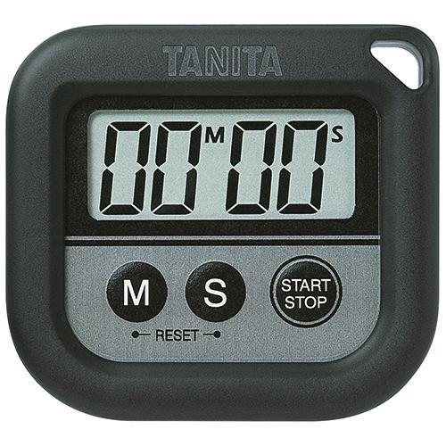 タニタ 丸洗いタイマー ブラック TD-376BK 1個