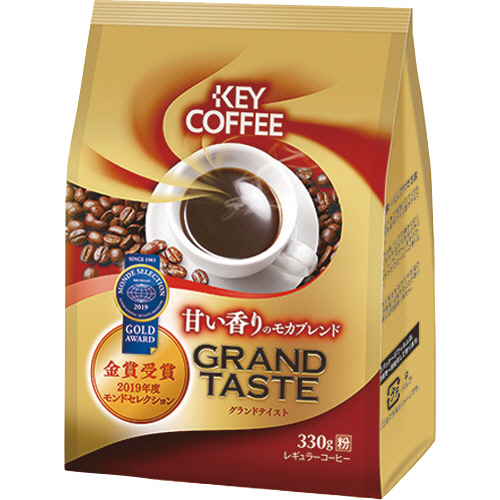 キーコーヒー グランドテイスト 甘い香りのモカブレンド 330g(粉) 1袋