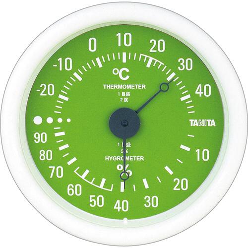 タニタ アナログ温湿度計 グリーン TT-515-GR 1個