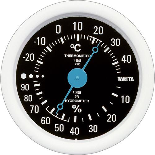 タニタ アナログ温湿度計 ブラック TT-515-BK 1個