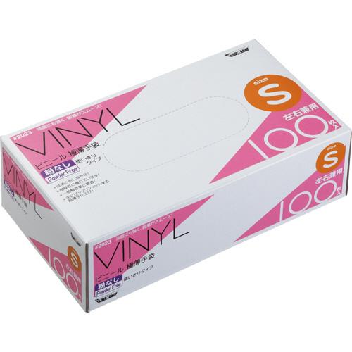 川西工業 ビニール極薄手袋 粉なし S #2023 1箱(100枚)