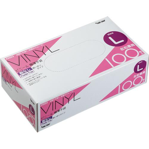 川西工業 ビニール極薄手袋 粉なし L #2023 1箱(100枚)