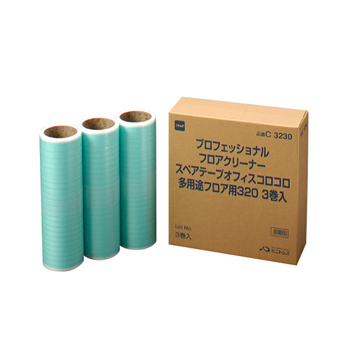ニトムズ オフィスコロコロ 多用途フロア用 スペアテープ 幅320mm×30周巻 C3230 1パック(3巻)