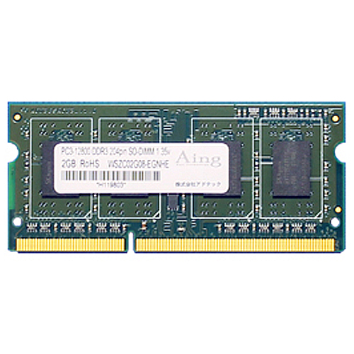 アドテック DDR3L 1600MHz PC3L-12800 204Pin SO-DIMM 低電圧 8GB ADS12800N-L8G 1枚