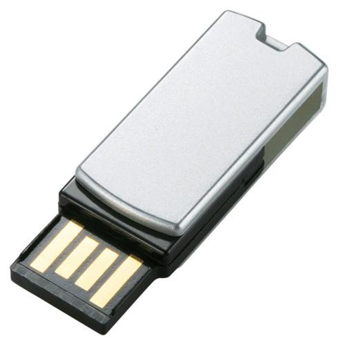 エレコム 回転式USB2.0メモリ 16GB シルバー MF-RSU216GSV 1個