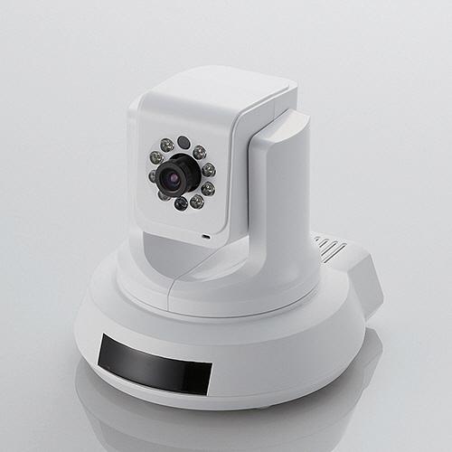 エレコム パンチルト式ナイトビジョンネットワークカメラ 有線モデル NCC-ENP100WH 1個