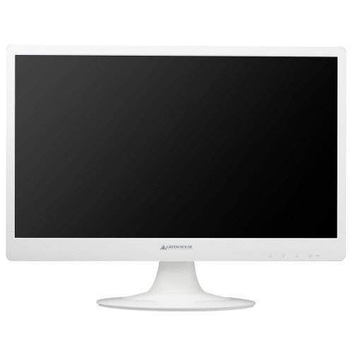 グリーンハウス 21.5型ワイドカラーLED液晶ディスプレイ ホワイト GH-LCW22A-WH 1台