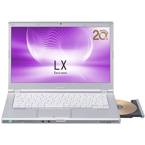 パナソニック Lets note LX6 14.0型 Core i5-7200U 750GB シルバー CF-LX6EDAQR 1台