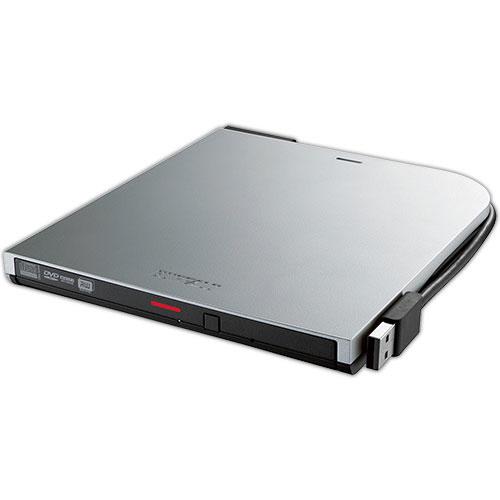 バッファロー USB2.0用ポータブルDVDドライブ スリムタイプ Windows/Mac両対応 シルバー DVSM-PT58U2V-SVD 1台