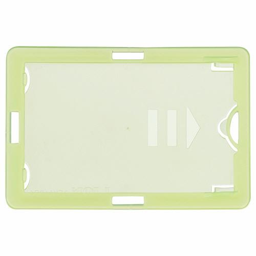 ライオン事務器 名札用ホルダー タテヨコ兼用型 ソフトタイプ(IDカード用) グリーン N209H-5P 1パック(5枚)