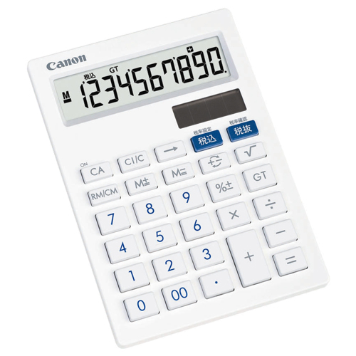 キヤノン 抗菌キレイ電卓 LS-101T SOB 10桁 中型卓上タイプ ホワイト 3441B001 1台