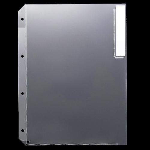 G-Aim クリアホルダー 見出し付 A4タテ 4穴 クリア YG-40-M 1パック(10枚)