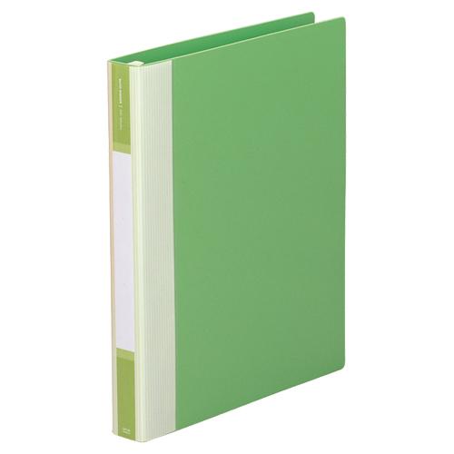 リヒトラブ リクエスト リフィルバインダーMTL A4タテ 30穴 80枚収容 背幅35mm 黄緑 G3902-6 1冊