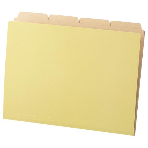 TANOSEE カットフォルダー4山(クラフト厚紙タイプ) A4 1パック(40冊)