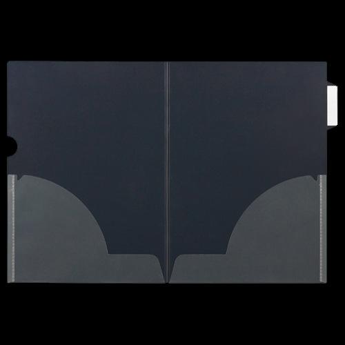 ニックス インデックス付クリアホルダー A4(見開きA3) 二つ折サイドインデックス付 MS-ICH-WA4 1パック(10枚)