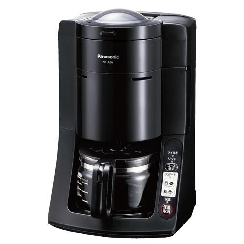 パナソニック 沸騰浄水コーヒーメーカー ブラック NC-A56-K 1台