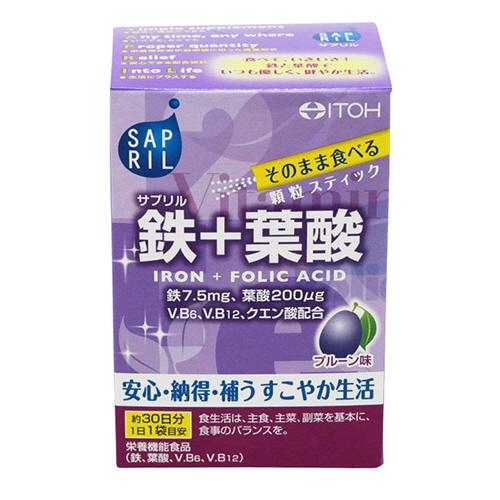 井藤漢方製薬 サプリル 鉄+葉酸 2g/袋 1個(30袋)