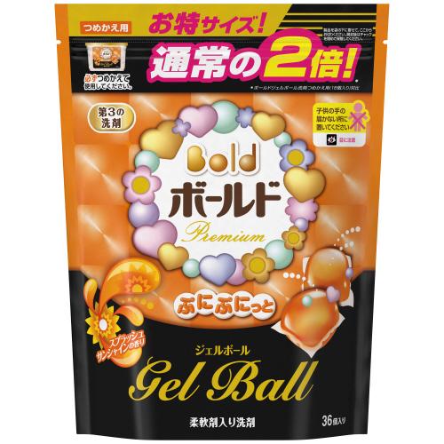 P&G ボールド ぷにぷにっとジェルボール スプラッシュサンシャインの香り 詰替用 特大サイズ 1パック(36個)