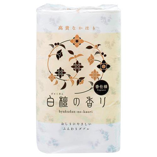 四国特紙 トイレットペーパー 白檀の香り ダブル 芯あり 30m 1パック(12ロール)