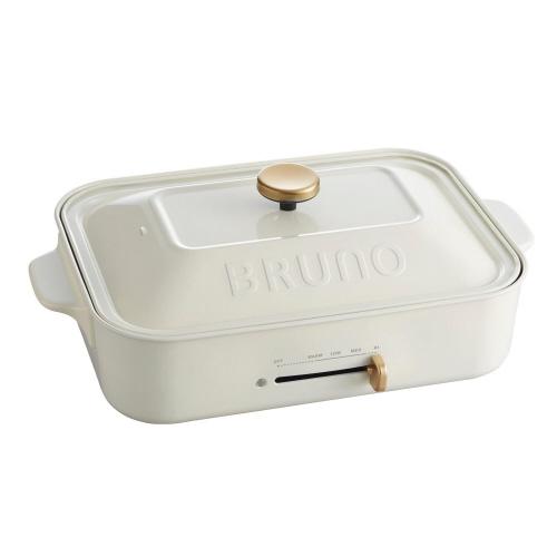 イデアインターナショナル ブルーノ コンパクトホットプレート ホワイト BOE021-WH 1台