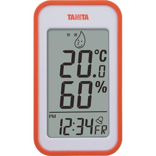 タニタ デジタル温湿度計 オレンジ TT559OR 1個