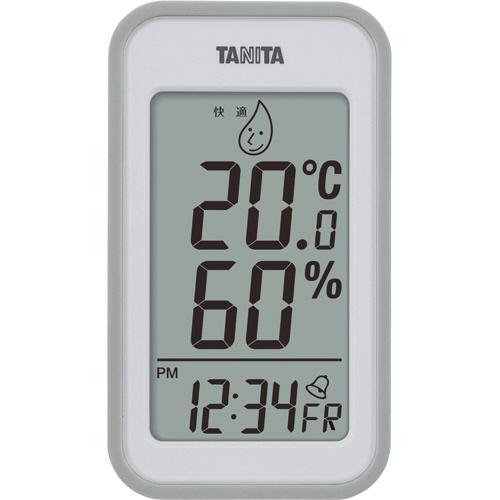 タニタ デジタル温湿度計 グレー TT559GY 1個