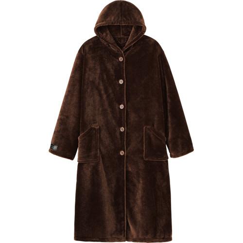 ナイスデイ mofua プレミアムマイクロファイバー着る毛布 ブラウン 1枚