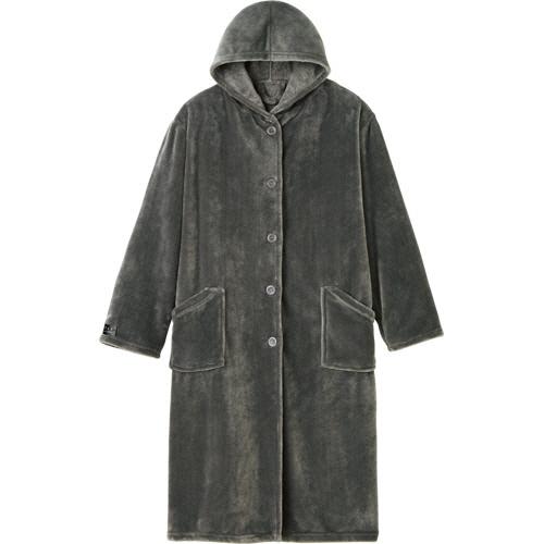 ナイスデイ mofua プレミアムマイクロファイバー着る毛布 グレー 1枚