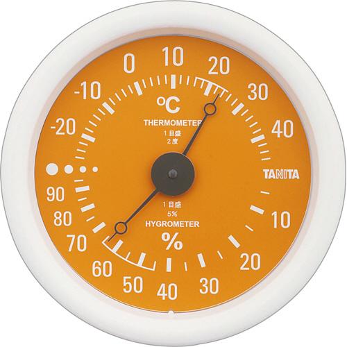 タニタ アナログ温湿度計 オレンジ TT-515-OR 1個