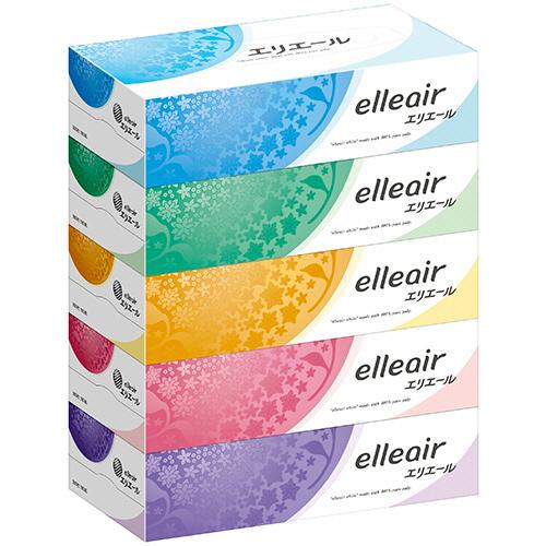 大王製紙 エリエールティシュー 180組/箱 1パック(5箱)