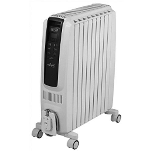 デロンギ ドラゴンデジタルスマート オイルヒーター ピュアホワイト+ブルー QSD0915-BL 1台