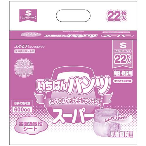 カミ商事 エルモア スーパーいちばんパンツ 長時間 S 1パック(22枚)