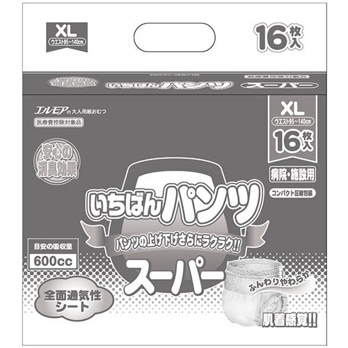 カミ商事 エルモア スーパーいちばんパンツ 長時間 XL 1パック(16枚)