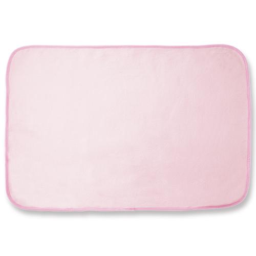 オーミケンシ フリースひざ掛け ピンク 1枚