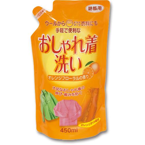 ロケット石鹸 おしゃれ着洗い オレンジオイル配合 詰替用 450ml 090829 1個