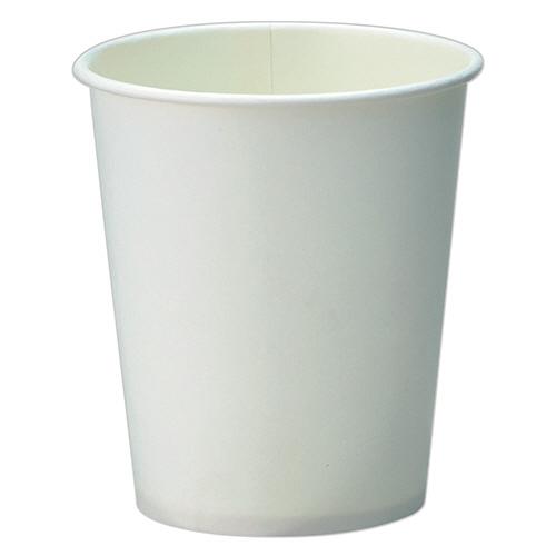 TANOSEE 紙コップ ホワイト 205ml(7オンス) 1ケース(2500個:100個×25パック)
