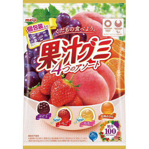 明治 果汁グミアソート 個包装 90g 1パック