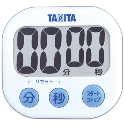 タニタ でか見えタイマー ホワイト TD-384WH 1個
