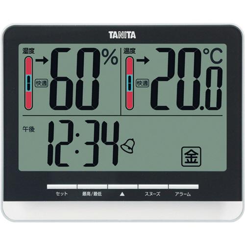 タニタ 温湿度計 ブラック TT-538BK 1個