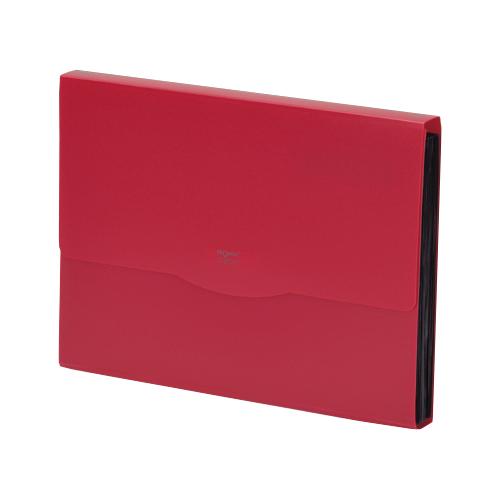 リヒトラブ リクエスト 不透明ドキュメントファイル A4 13ポケット 赤 G5800-3 1冊