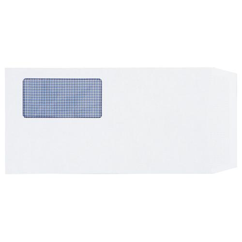 TANOSEE 窓付封筒 裏地紋付 ワンタッチテープ付 長3 80g/m2 ホワイト 1パック(100枚)