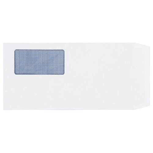 TANOSEE 窓付封筒 裏地紋付 ワンタッチテープ付 長3 80g/m2 ホワイト 業務用パック 1箱(1000枚)