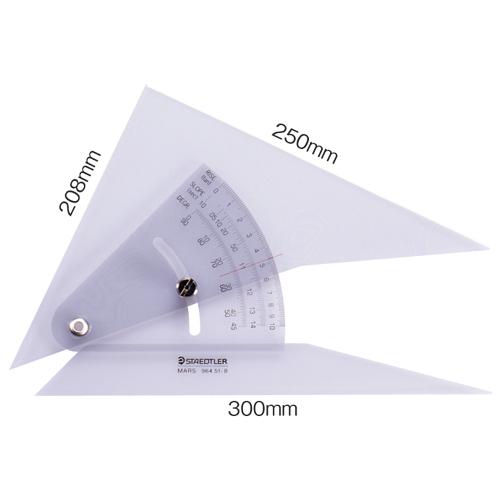 ステッドラー マルス 勾配三角定規 25cm 964 51-10 1個