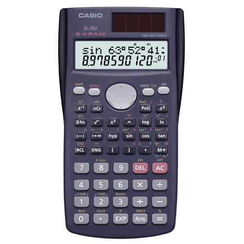 カシオ 関数電卓 10桁2行 ハードケース付き fx-290-N 1台