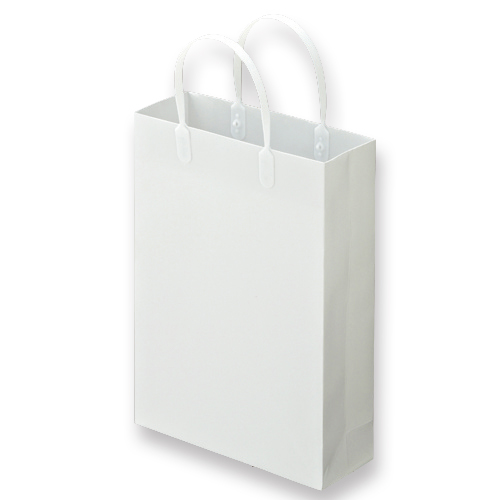 TANOSEE ラミネートバッグ 小 ヨコ225×タテ310×マチ幅80mm 白 1パック(10枚)