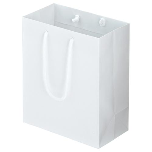 TANOSEE マットコート手提袋 S ヨコ220×タテ260×マチ幅120mm ホワイト 1パック(10枚)