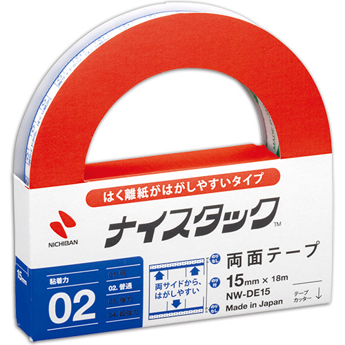 ニチバン ナイスタック 両面テープ はくり紙がはがしやすいタイプ 大巻 15mm×18m NW-DE15 1巻